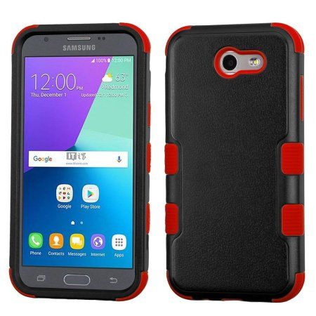 Insten Tuff Hard Dual Layer Rubberized Silicone Case For Samsung Galaxy J3 2017 Black Red Usb Cable Multicolor Samsung Galaxy Galaxy Express Samsung Galaxy J3 Case