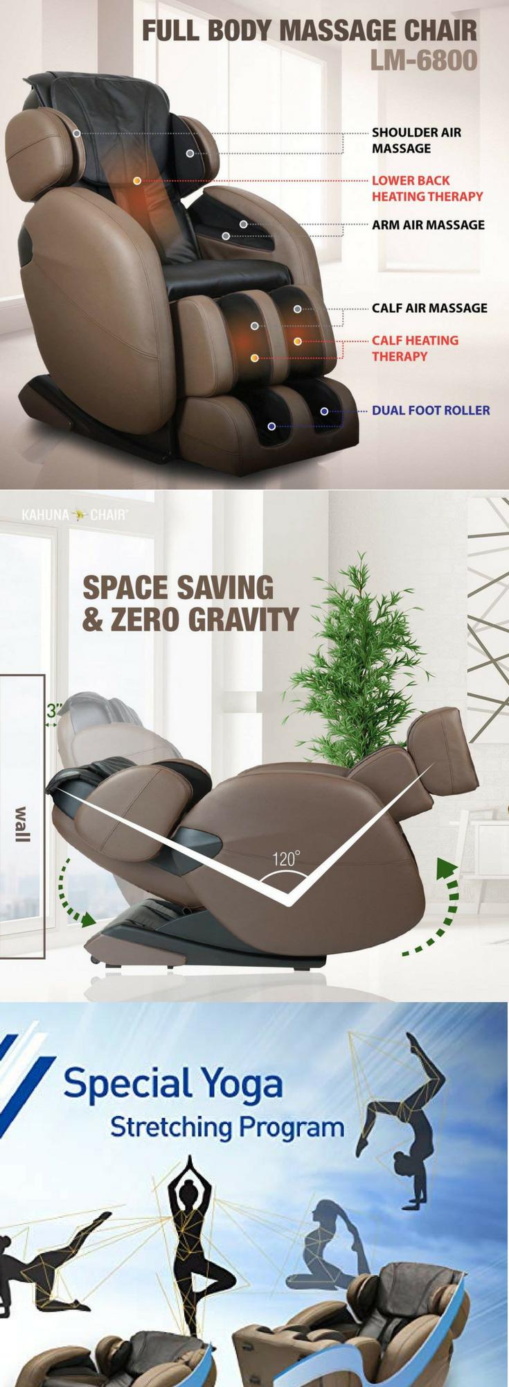 Massage Chair Space Saving Zero Gravity Full Body Recliner Lm6800