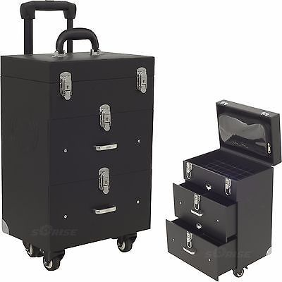 Rolling Manicure Beauty Trolley Case Organizers Storage Holds Opi Nail Polish