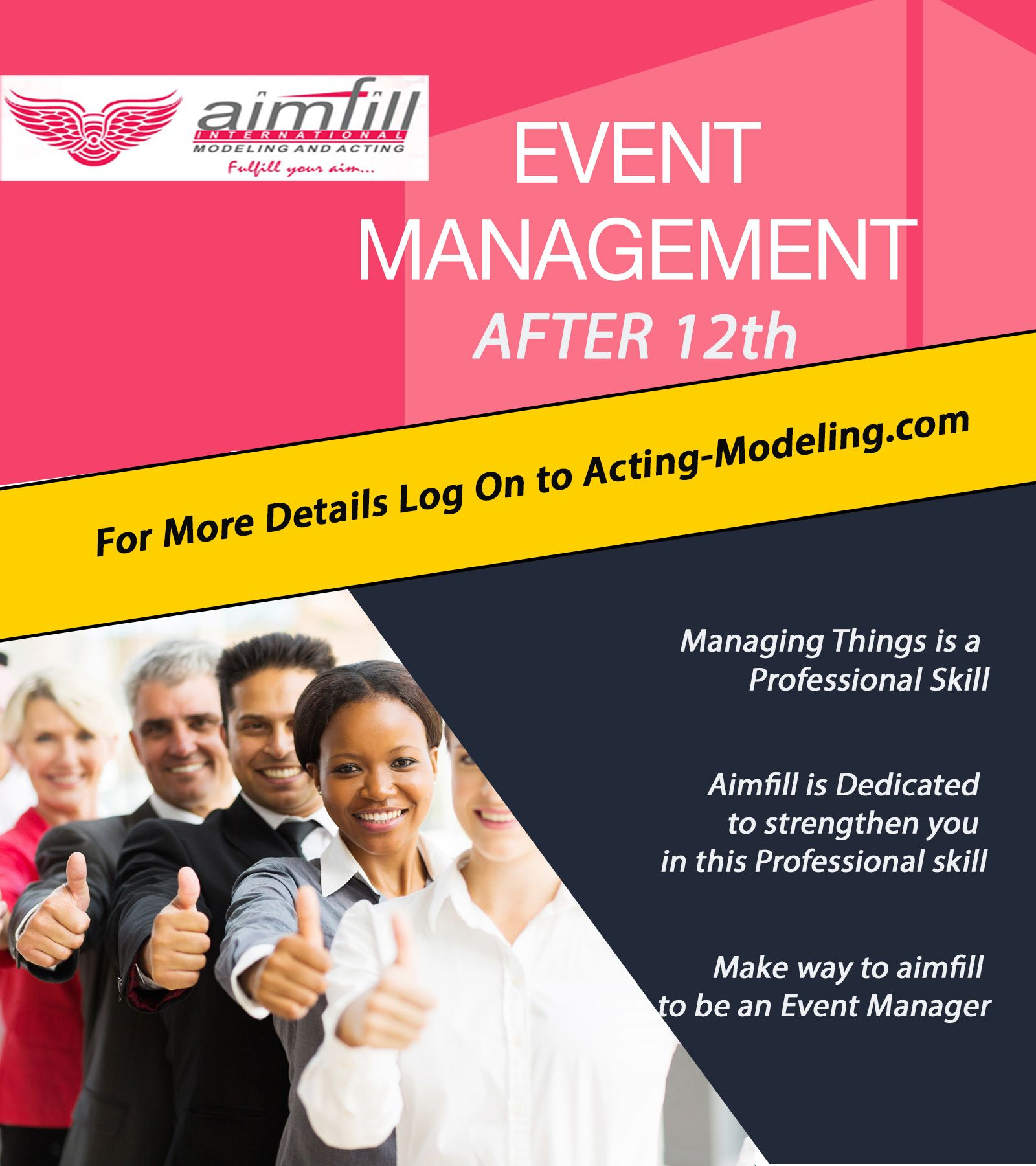 #Event #Management #Courses #After #12th It is a Process of handling the work with successful customer satisfaction we make you the best as an event manager. To More info on Click Here -> http://acting-modeling.com/b.b.a.-event-management.html