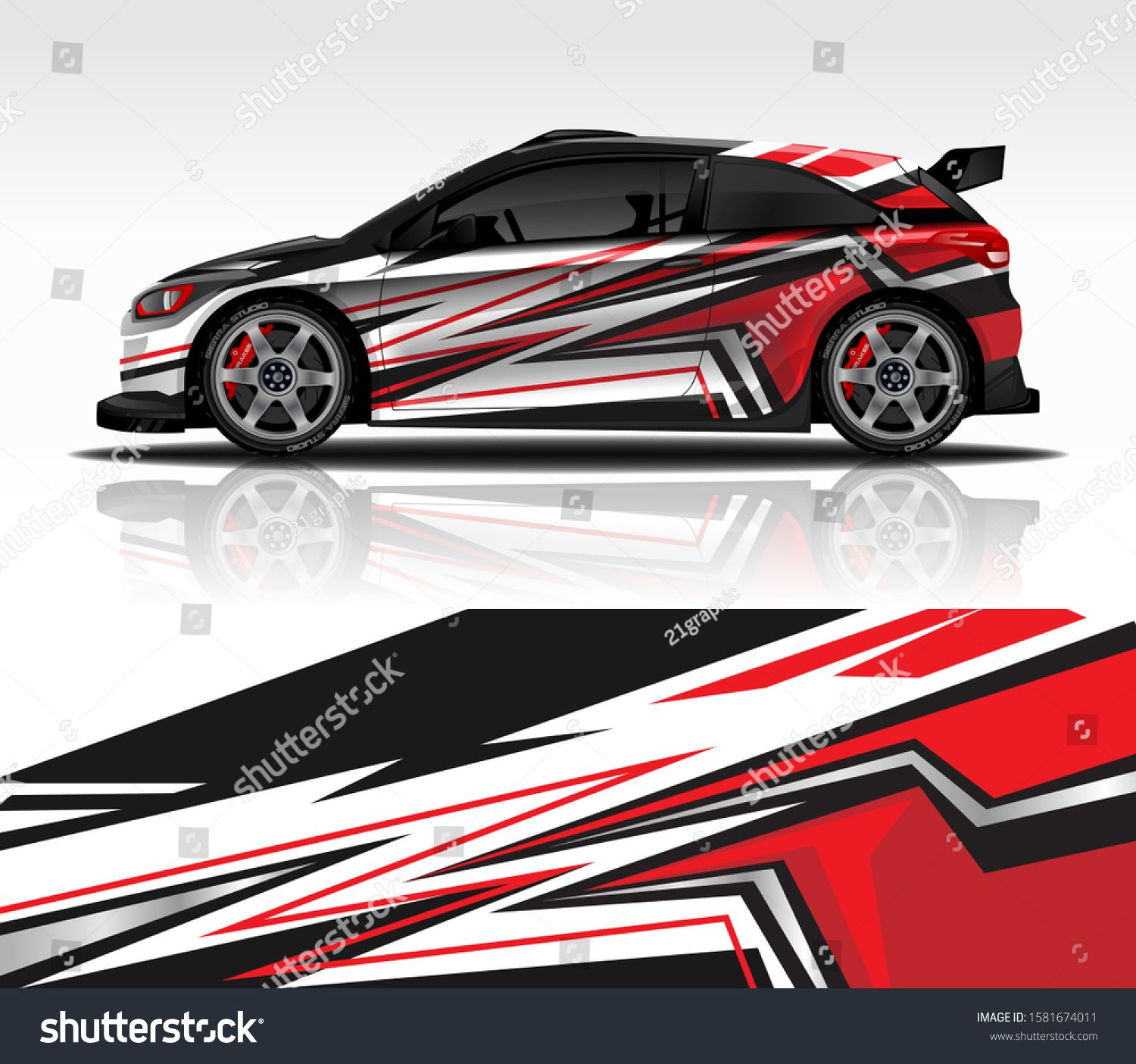 Wrap decal design for Hyundai i20 livery rally race style