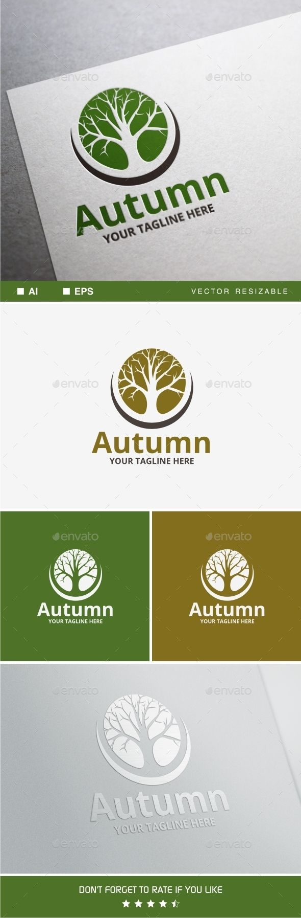 Autumn Logo — Vector EPS #green #tree • Available here → https://graphicriver.net/item/autumn-logo/10128104?ref=pxcr