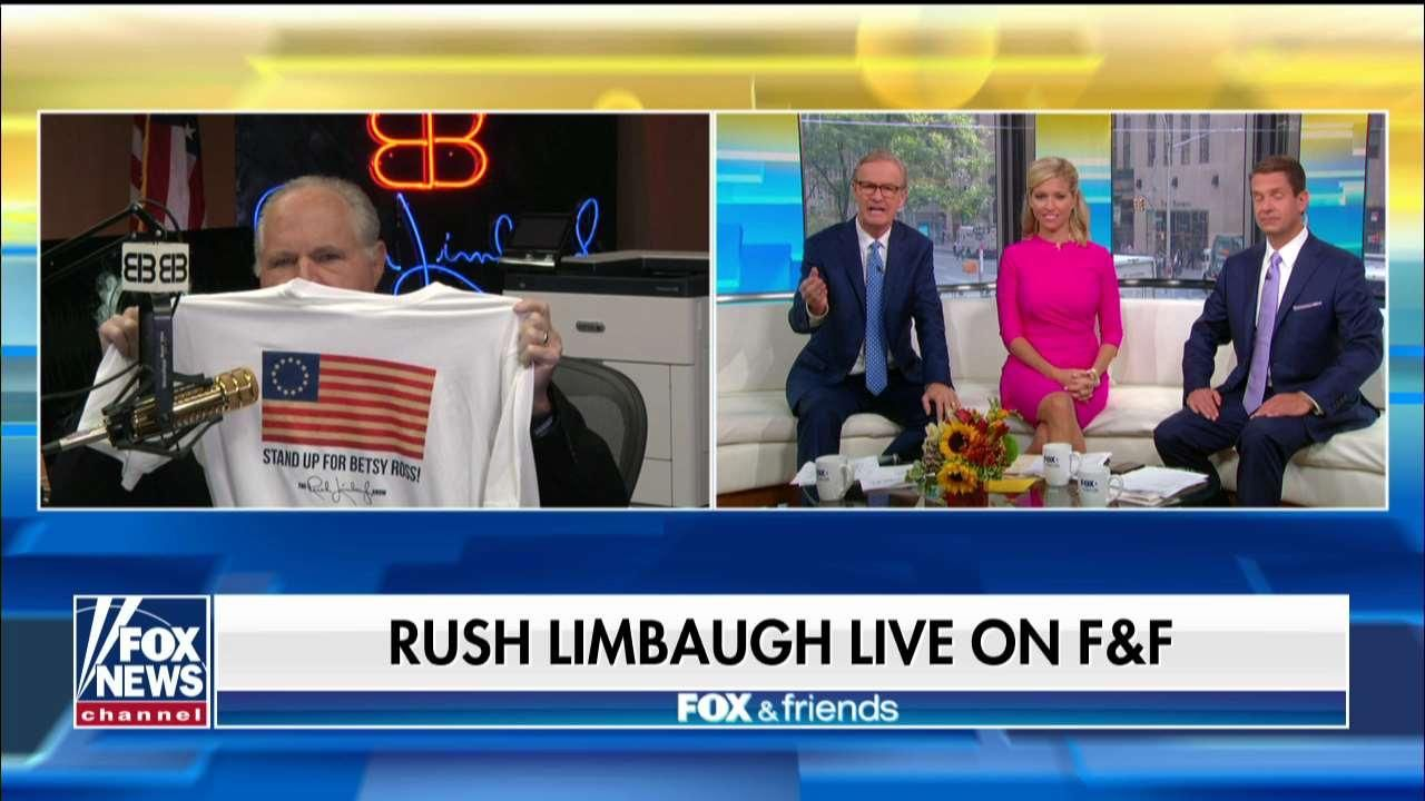 Sales of 'Betsy Ross' shirts jump as Rush Limbaugh