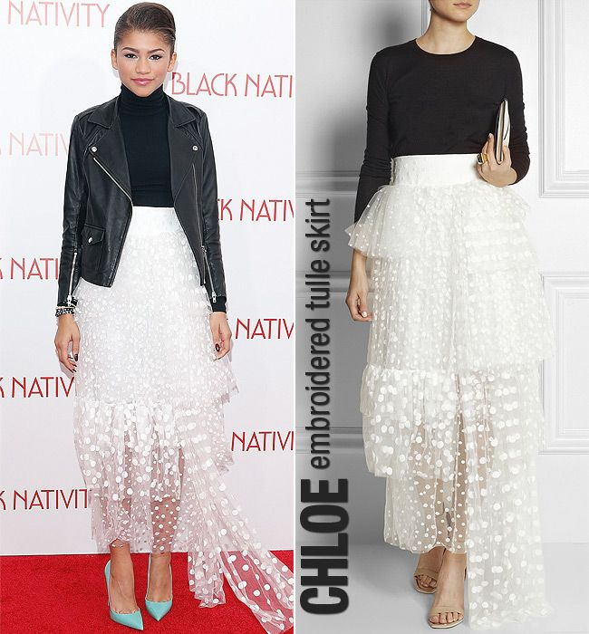 Zendaya Coleman werqs the multilayer skirt trend for winter.