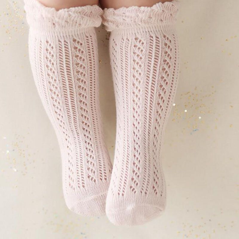 d72215271 Sweet Newborn Baby Girl Socks Cotton Summer Infant Baby Knee High Socks for  0-4