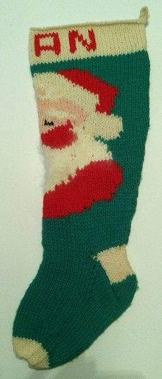 1960 S Vintage Knit Stocking Pattern And Pictures Crafts