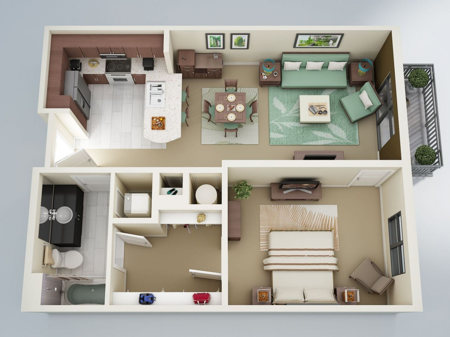 Large 1 Bedroom Apartment Floor Plans Bedroom Decorating Ideas On A Budget Check More At Htt One Bedroom Apartment Apartment Floor Plans Apartment Floor Plan