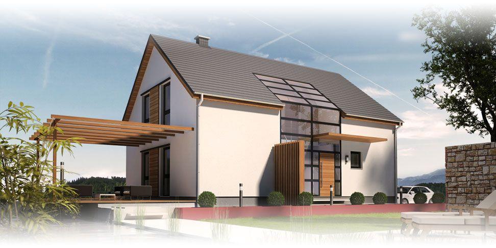 Massivhaus modern satteldach  Massivhaus mit Satteldach: Beipielplanung 2 - jetzthaus | Haus ...