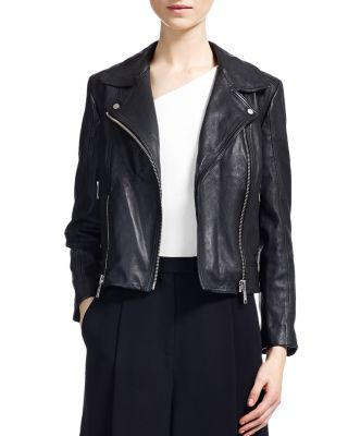 746f717a Whistles Cara Cropped Leather Biker Jacket | Bloomingdale's | Winter ...