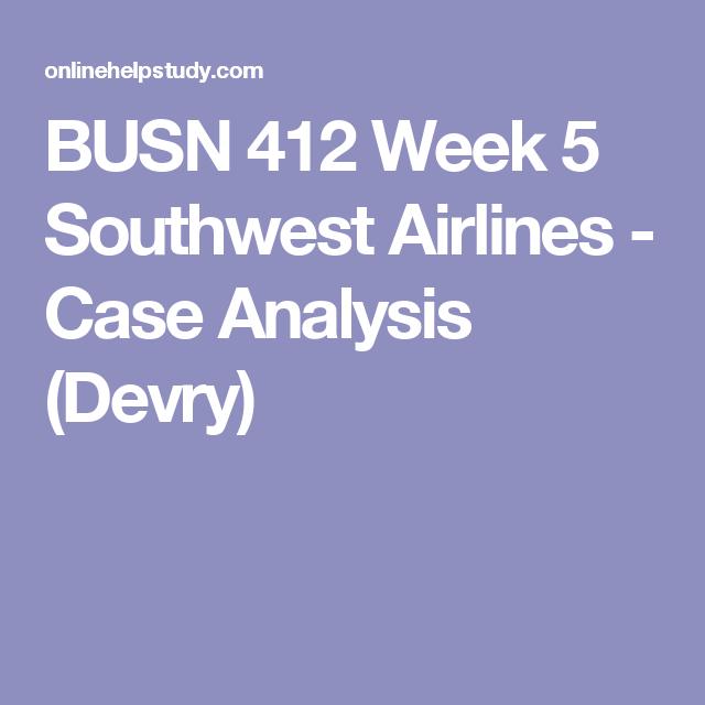southwest case analysis