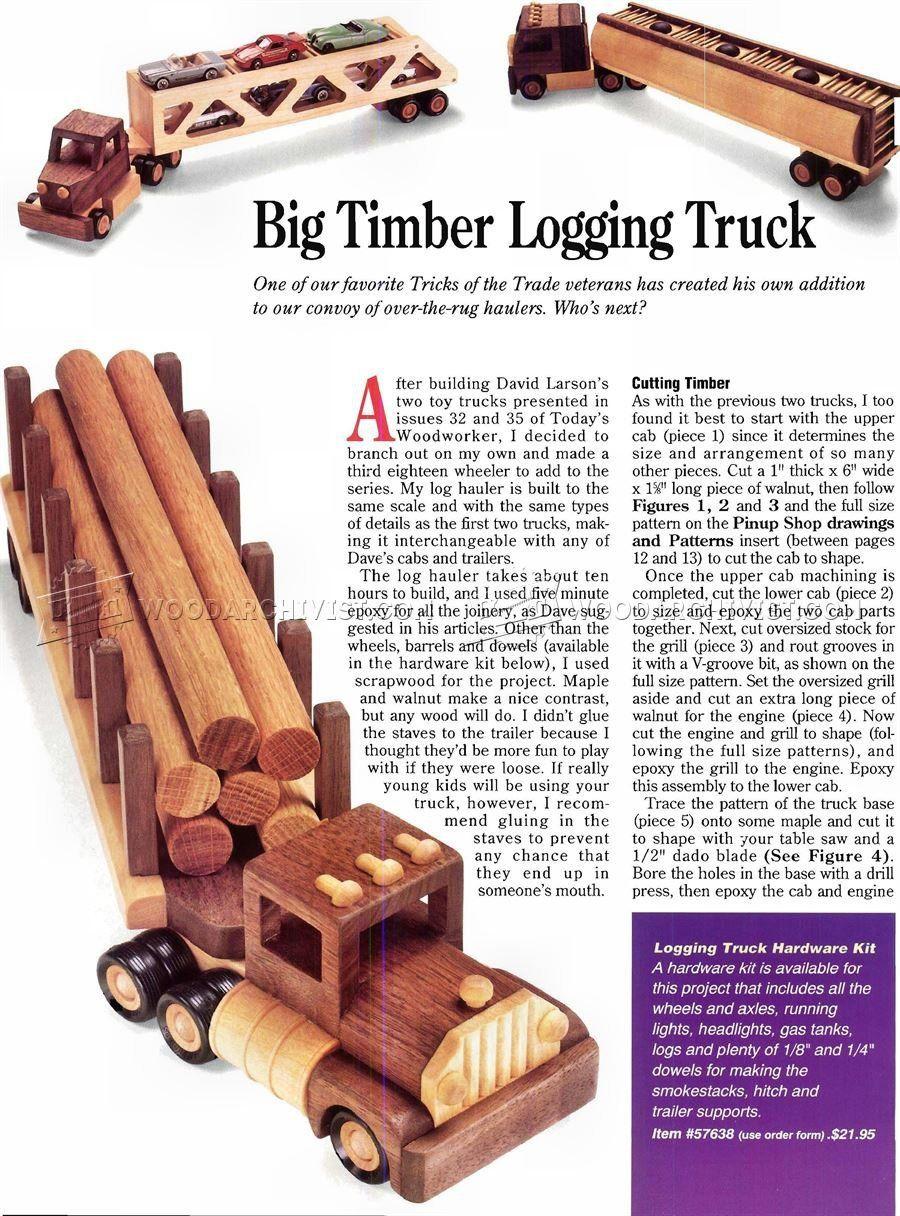 wooden logging truck plans - wooden toy plans | let's make