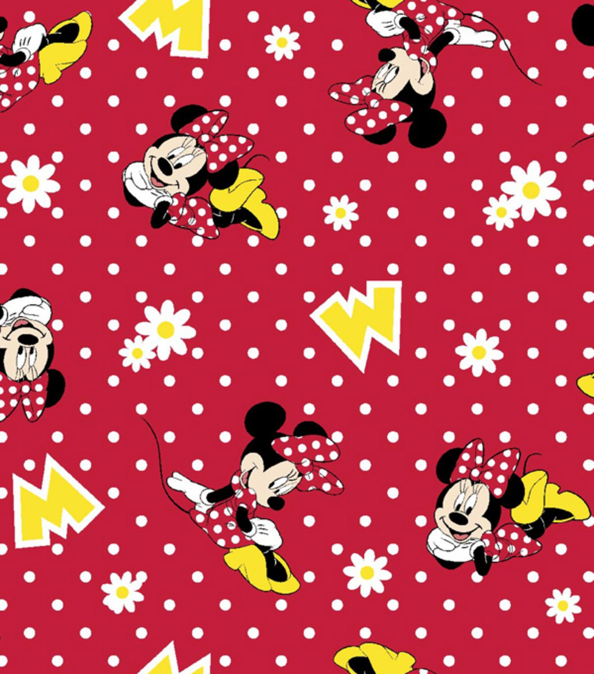 disney minnie mouse flannel fabric 42quot wide dots by