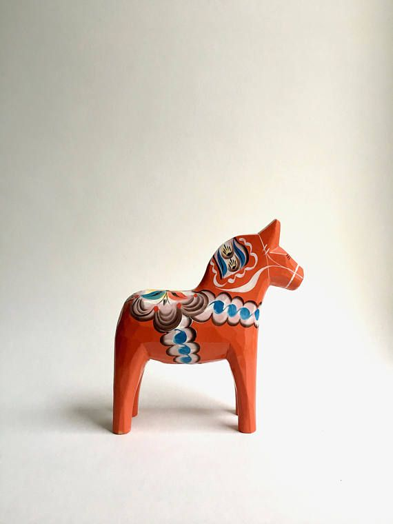 Dalarna Pferd vintage dalapferd schweden holzpferd original dalarna pferd moovi