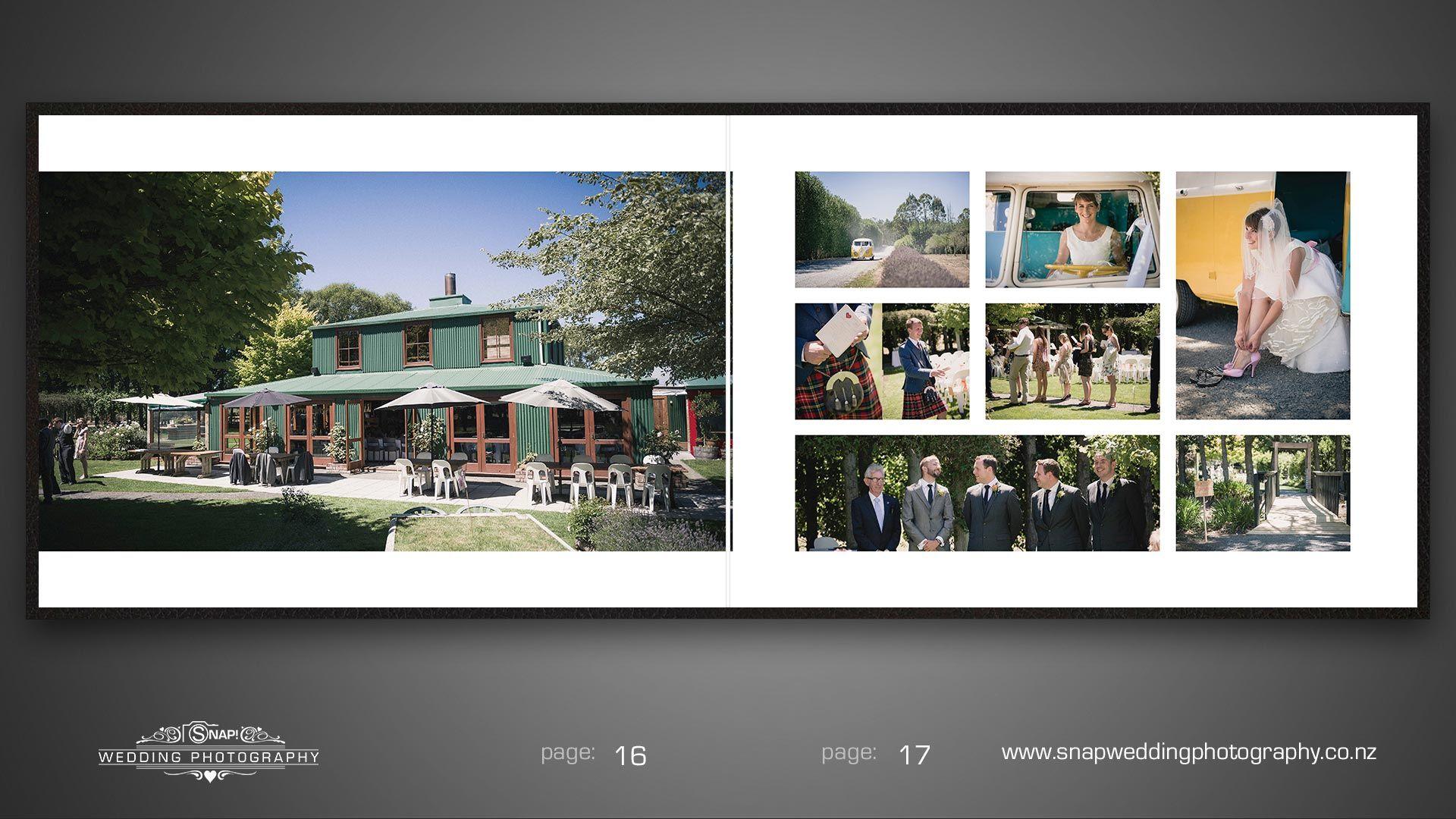 Wedding Album Design From Wedding Photography At Langdales Vineyard