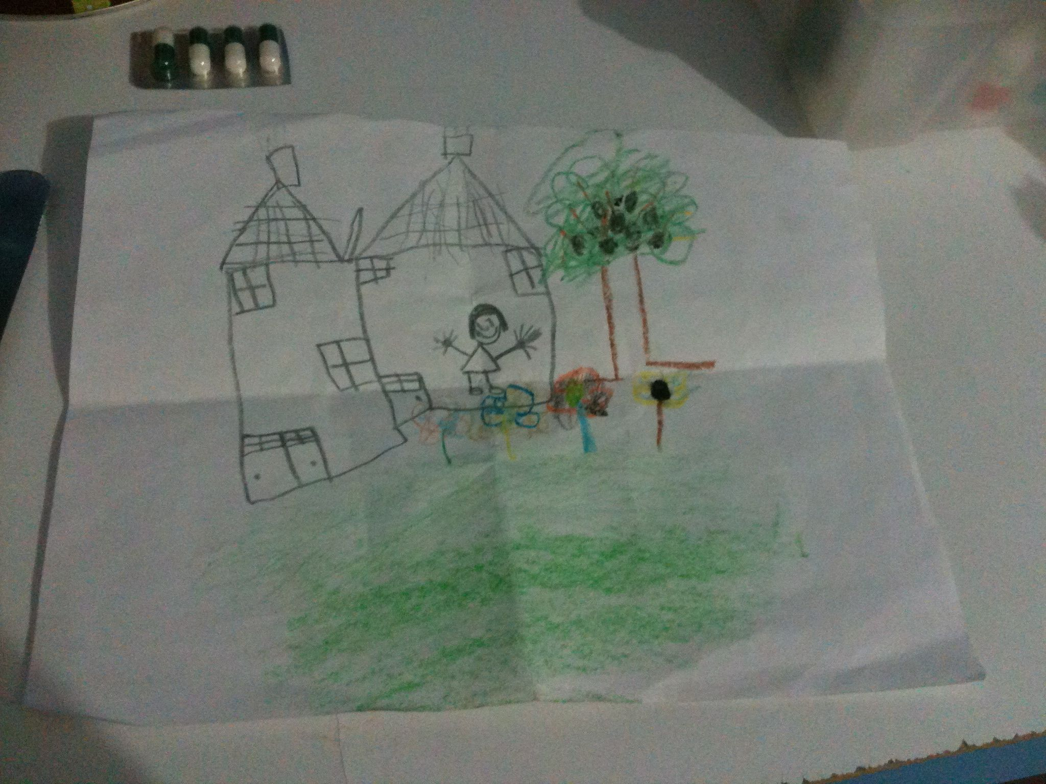 Dibujo de una paciente de 5 años