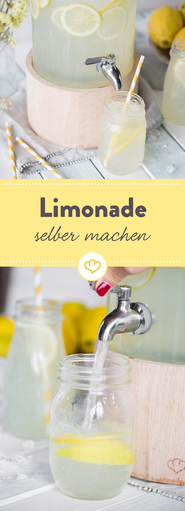 Zitronenlimonade selber machen - das Grundrezept #melonrecipes