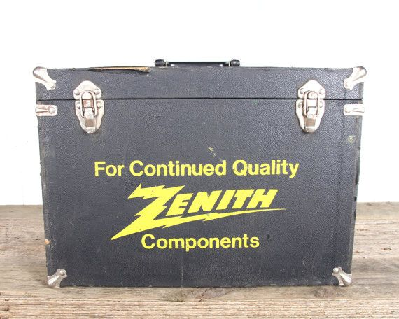 Vintage Zenith Electronic Tubes Tool Box / Antique by Vintage05