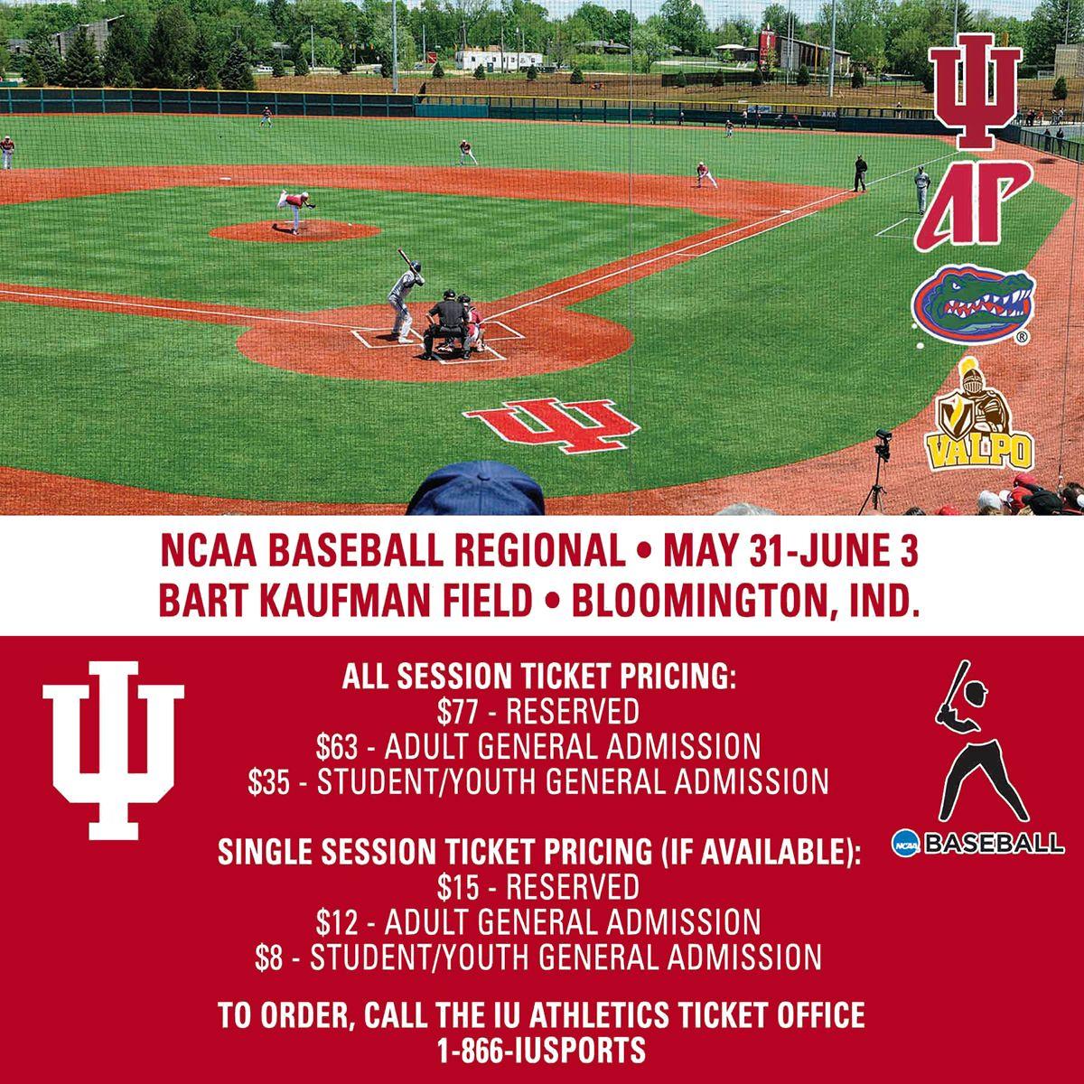 Your Big Ten Champion Indiana Hoosiers Will Host An Ncaa Regional Baseball Tournament This Friday Through Baseball Tournament Indiana Hoosiers College Baseball