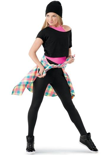 cb337af1ea3fe8 Weissman™ | Leotard, T-Shirt, Leggings & Plaid Shirt | Dance ...