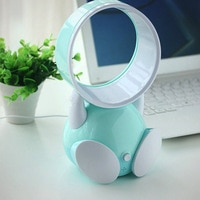 XHSP Mini Leafless Cooling Fan Portable Air Conditioner USB Desktop Personal Fan Radiator with Cartoon Silent Operation for Work And Study Sleep Home Outdoor Travel Office Fathers Day Gift