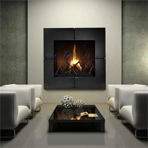 Contemporary Freestanding Fireplace from Heat  Glo Chimeneas - tipos de chimeneas