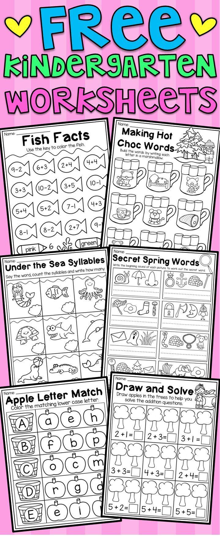 Free Kindergarten Seasonal Worksheets Math And Literacy Pre K