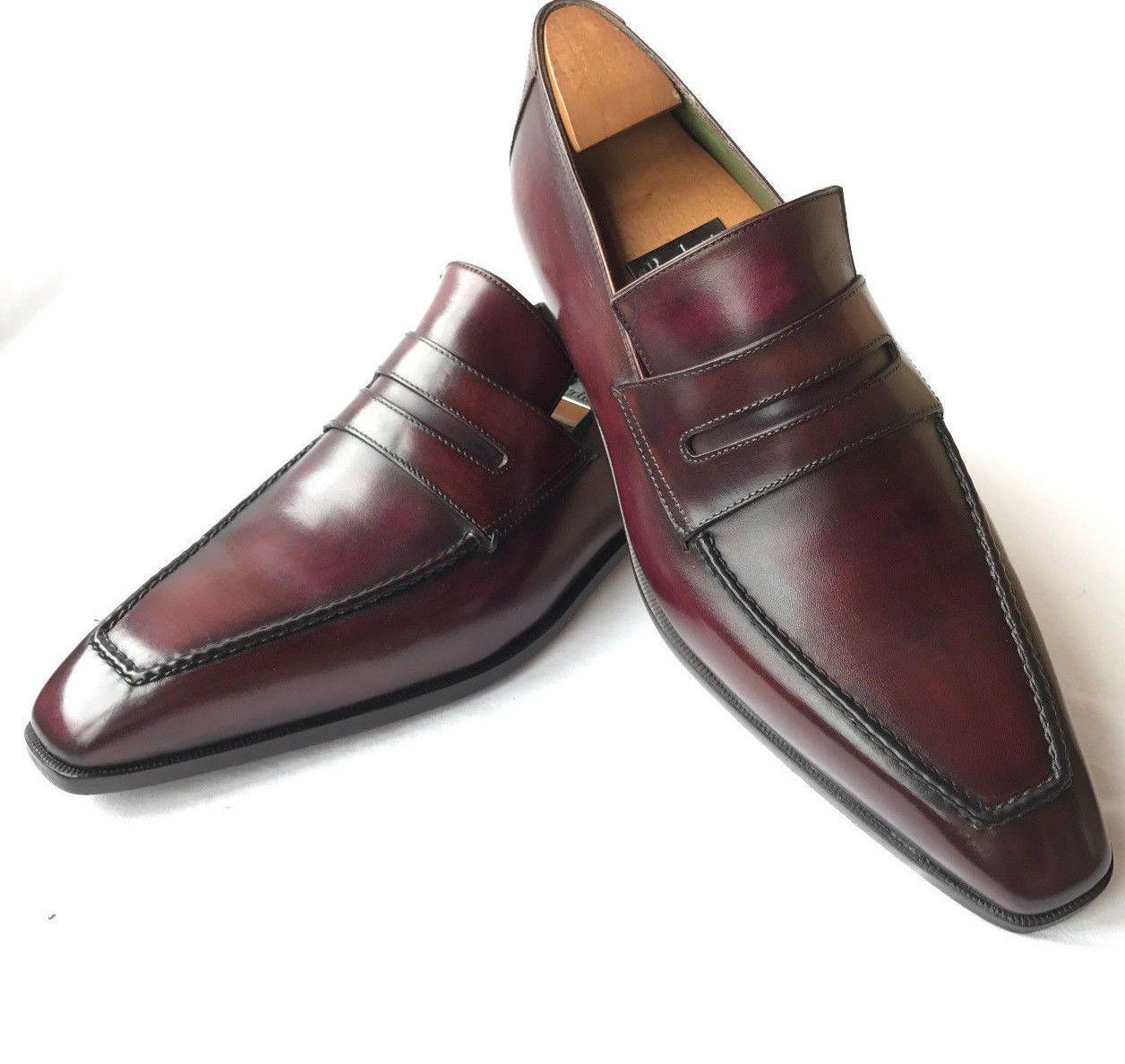 Handmade Men Dark Burgundy Leather Shoes Formal Leather Shoes For Leather Shoes Men Dress Shoes Men Leather Formal Shoes