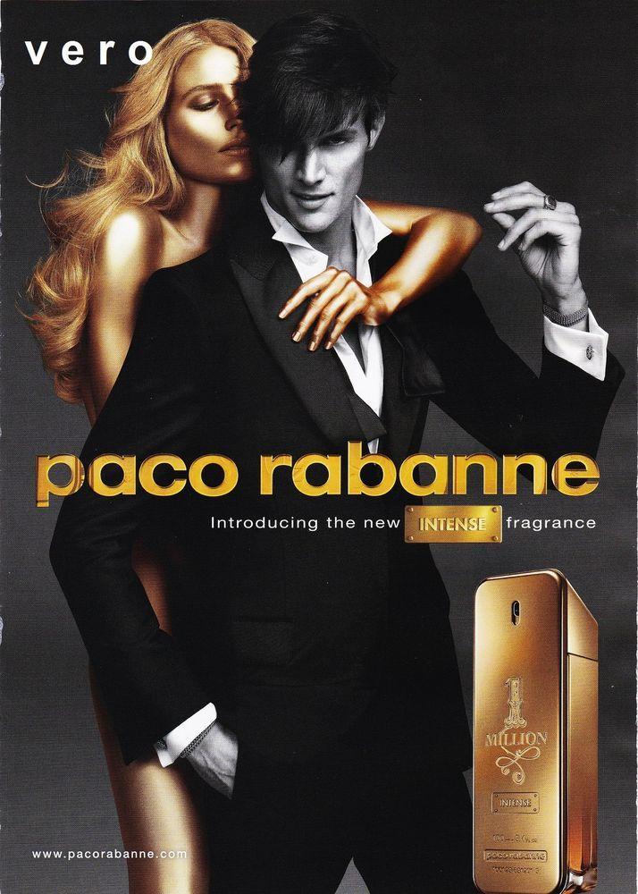 magazine print ad paco rabanne intense open sniff