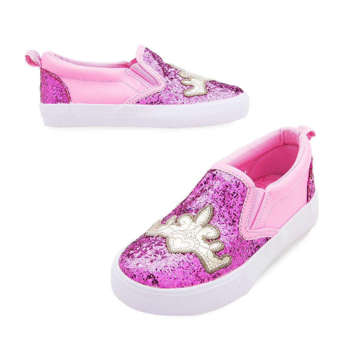 Disney Pink Mary Jane Slip On Girls Rock Shoes Sz 7//8