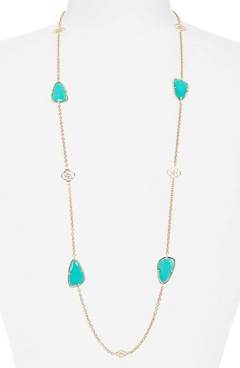 79e81b438 Kendra Scott 'Kinley' Long Station Necklace (Nordstrom Exclusive) available  at #Nordstrom