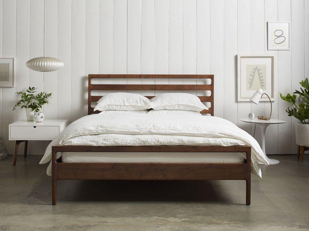 Handmade Wood Bed Frame Minimalist Furniture Furniture Design