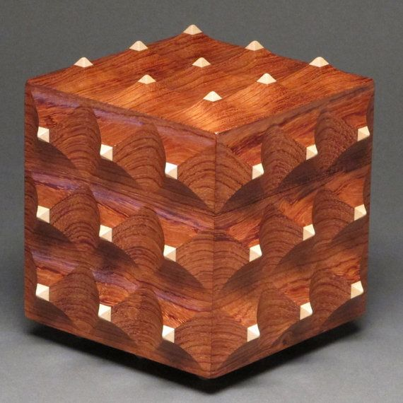 How To Make A Decorative Wooden Box: Bubinga+Maple+Decorative+Wooden+Box+Secret+Compartment+by