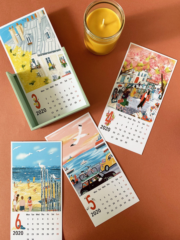 2020 Desk CalendarOffice Calendar 2020Monday start