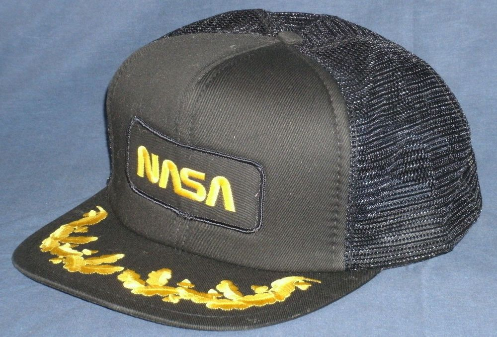 7924883e5eb Vintage NASA Gold Embroidered Black Trucker Hat Mesh Cap Space Shuttle Era   fashion  clothing  shoes  accessories  mensaccessories  hats (ebay link)