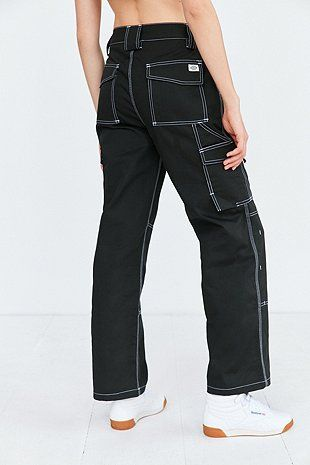 Dickies X Uo Carpenter Contrast Stitching Trousers Denim Trends