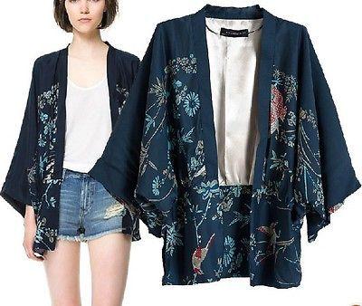 NEW Vintage Retro Women Ethnic Phoenix Loose Style Kimono Cardigan Jacket Coat