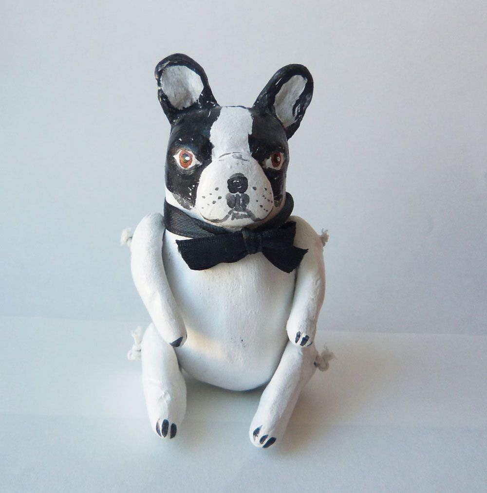 Vintage Style Gentleman French Bulldog by