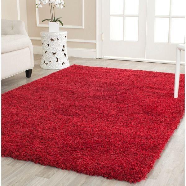 shaggy fluffy rug shag solid red carpet thick flokati area rugs 4u0027