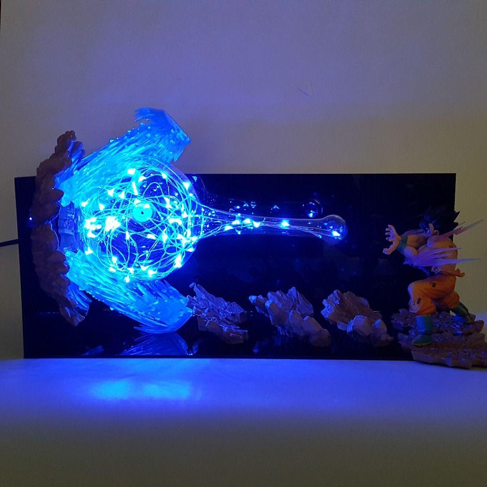 Dragon Ball Son Goku Ultra Instinct Led Night Lights Desk Lamp Dragon Ball Z Goku Key Of Egoism Led Lampara Dragon Ball Dragon Ball Goku Dragon Ball Wallpapers