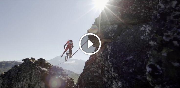 Must Watch: Mountain Biking on a Slackline | Singletracks Mountain Bike News