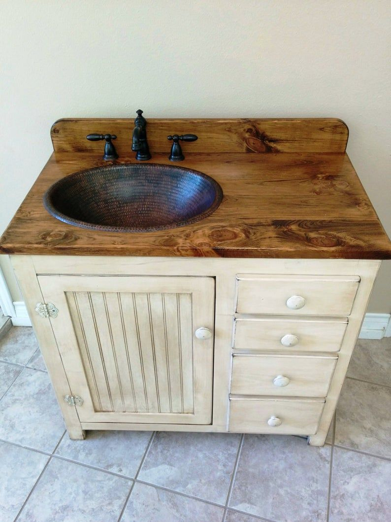 Bathroom Vanity 36 Rustic Farmhouse Bathroom Vanity Etsy Rustic Bathroom Vanities Farmhouse Bathroom Vanity Bathroom Vanity