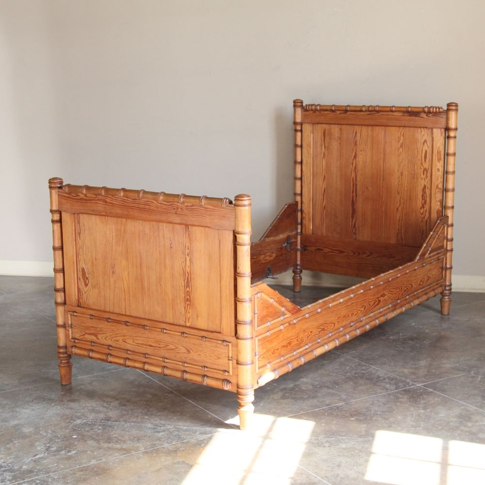 19th century french faux bamboo twin day bed faux bamboo custom
