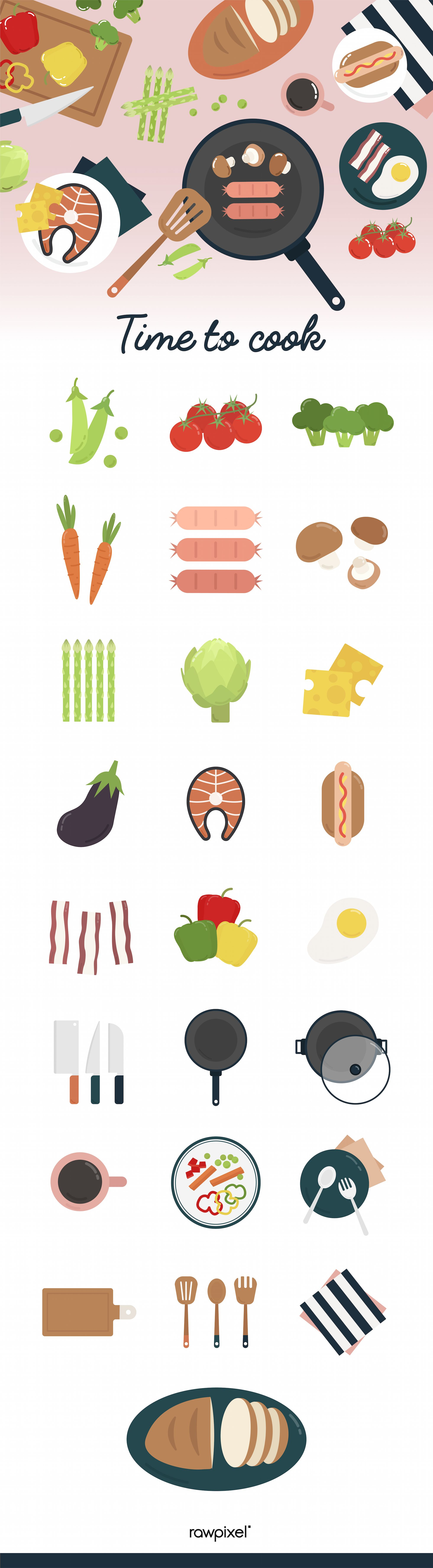Download food vectors and many other amazing