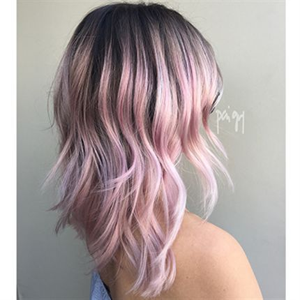 How To Bubblicious Pink Shadow Root Behindthechair Com Short Hair Styles Coral Hair Pink Short Hair