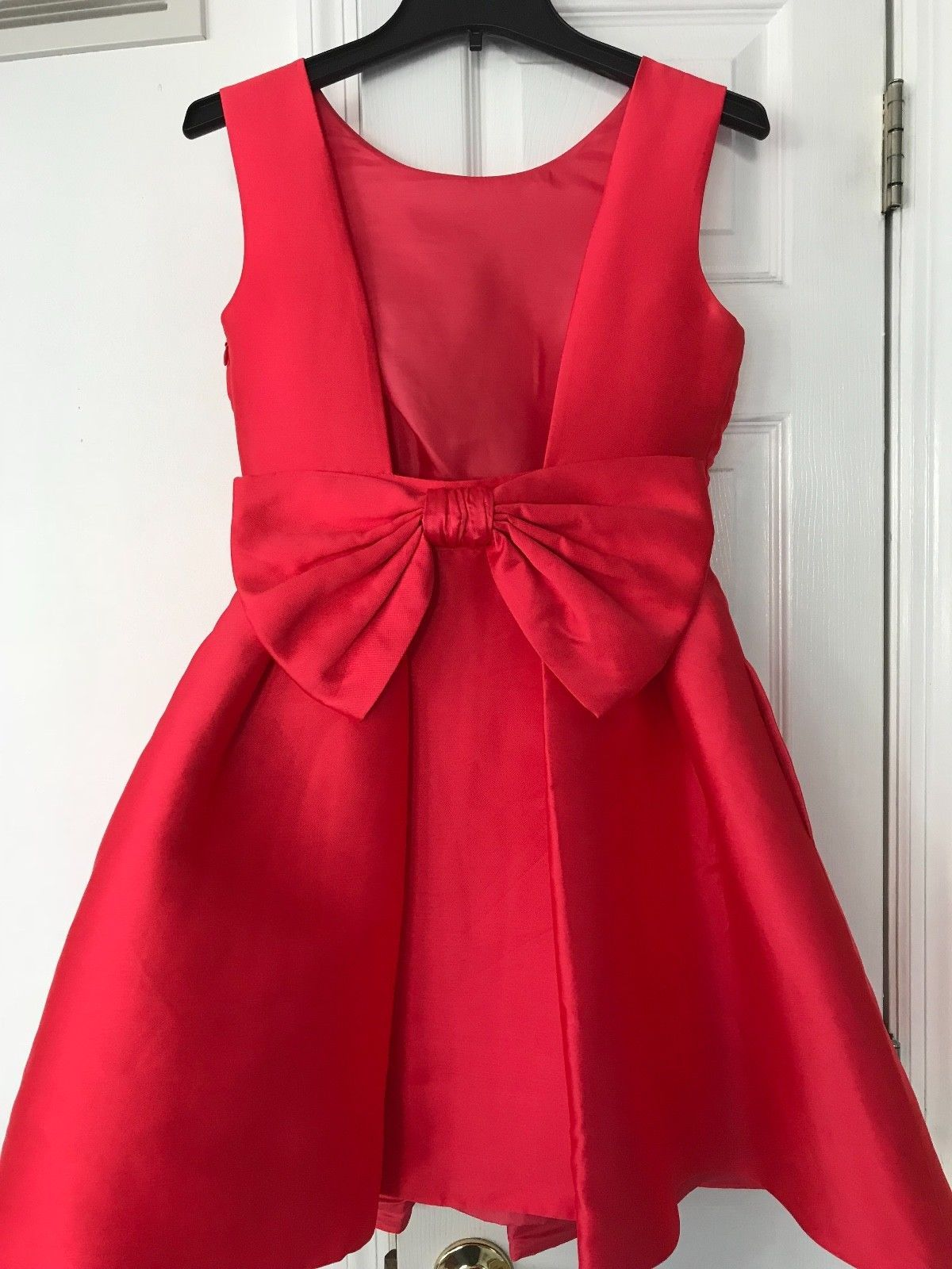 46d03e59f47 Kate Spade Specialty Store Geranium Bow Open Back Silk Mini Dress  428 Size  4