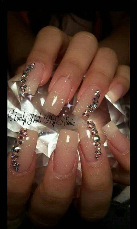 Elegantes uñas acrílicas | UÑAS ACRILICAS Y MAS | Pinterest | Uñas ...