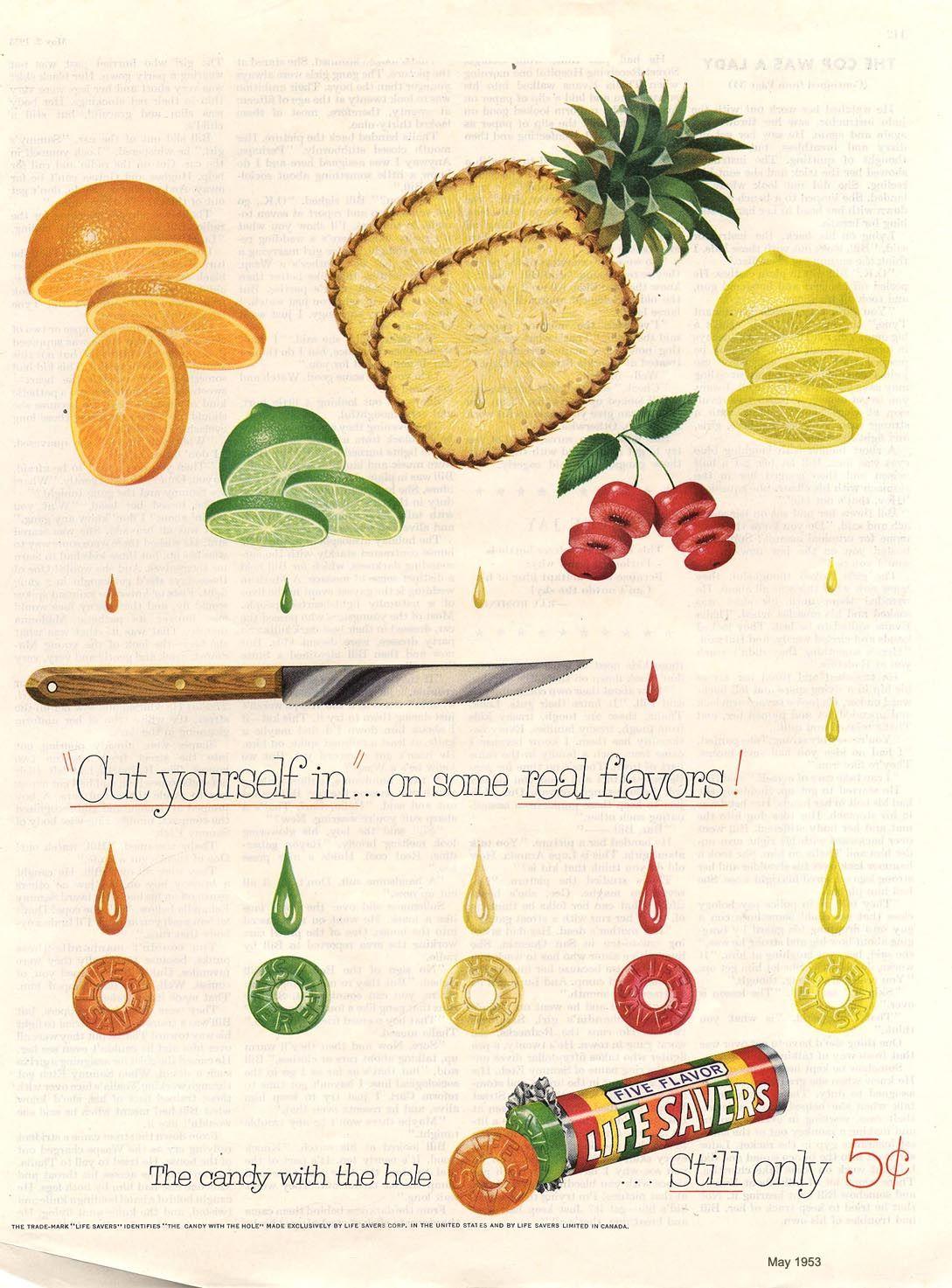 Cut Life Savers Ad Lifesavers Life Savers Ads Vintage Ads