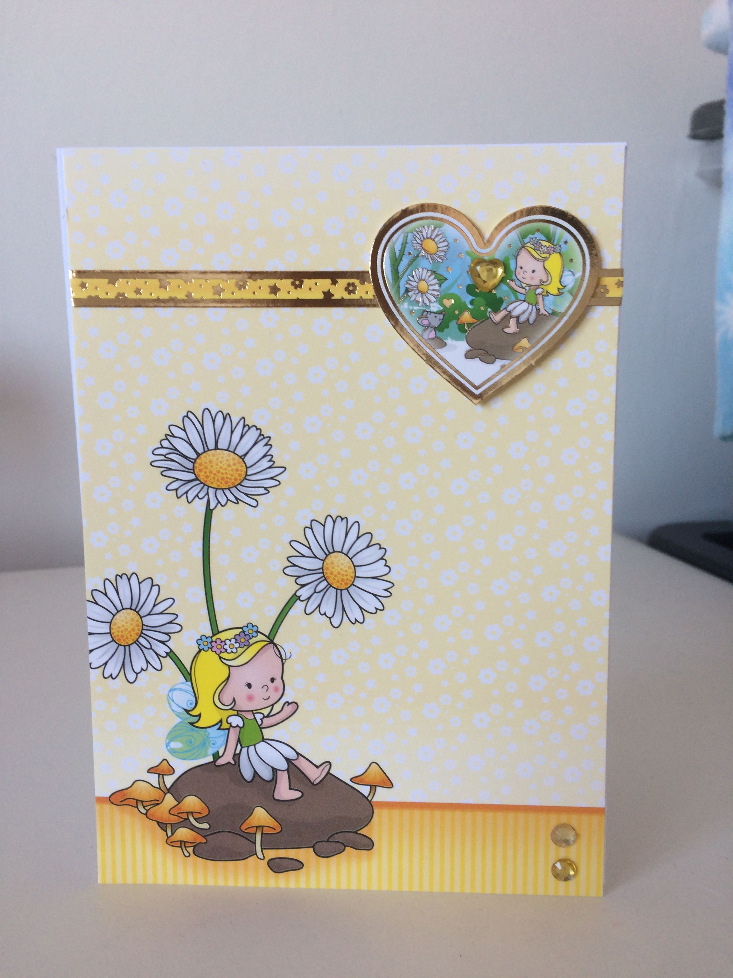 Fairy Birthday Card Made With Hunkydory Topper