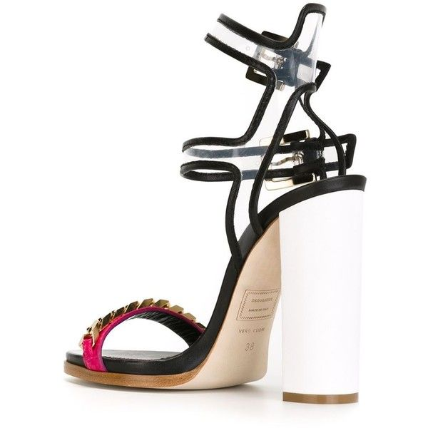 collections cheap online sale official site Dsquared² Colorblock Cage Sandals IEyMP8cOK
