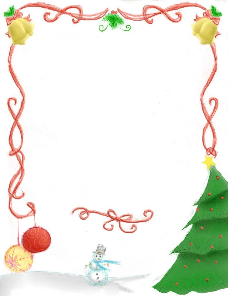 Free Christmas Page Borders Christmas Border updated by
